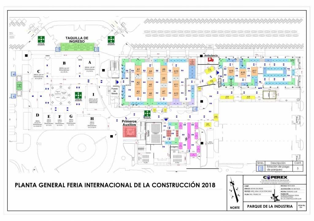 Plano Construfer 2018 - Stand Guatemala - Mercadeo Visual