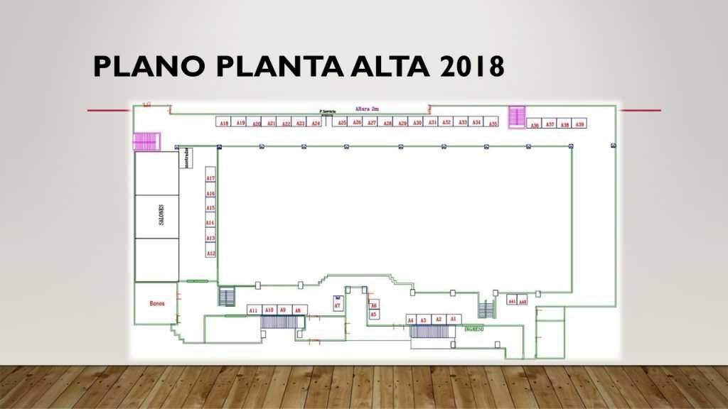 Plano planta alta Feria Alimentaria 2018 - Tikal Futura - Stand Guatemala - Mercadeo Visual | Stand | Alquiler | Montaje | Tipos de Stands | Diseño | Fabrica | Ferias en Guatemala